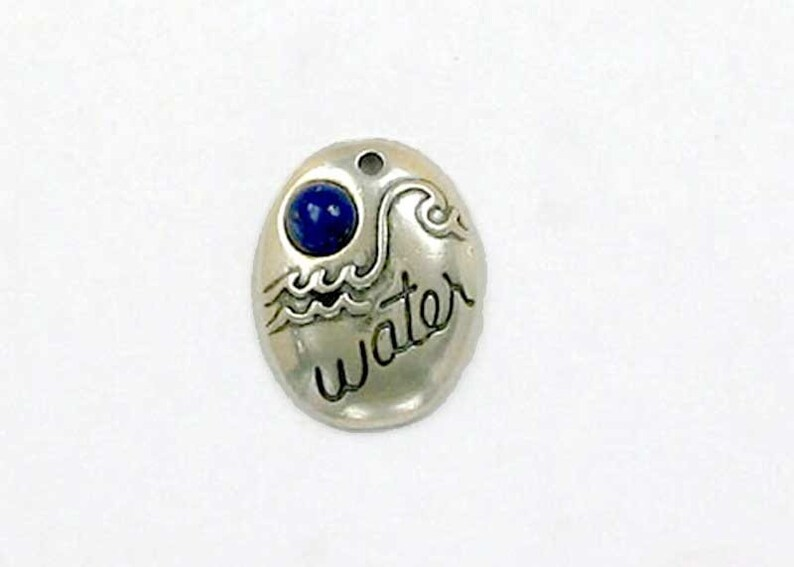 Sterling Silver Four Elements Water Charm
