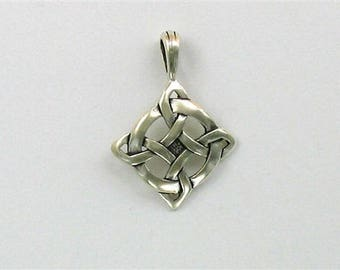 "Sterling Silver Celtic ""Luck"" Symbol Pendant"