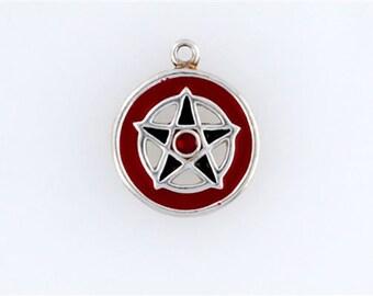 Sterling Silver Enameled Pentagram Charm