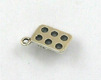 Sterling Silver 3-D Muffin Pan Charm