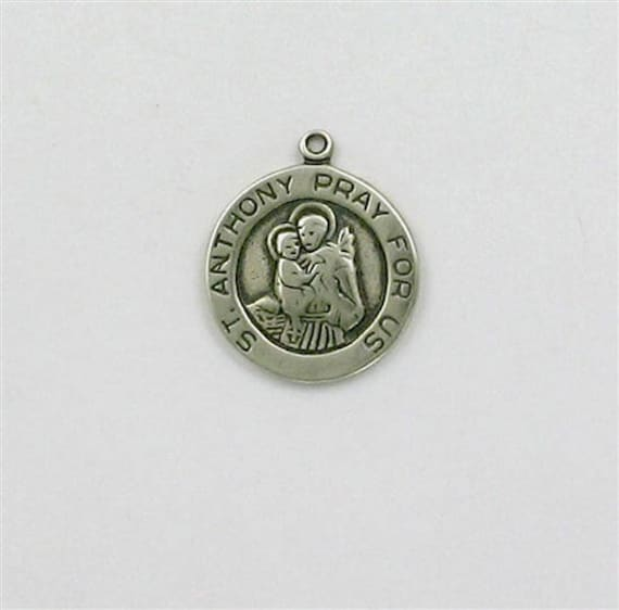 Sterling Silver Saint Anthony Medal Charm