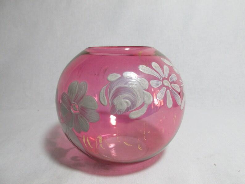 Scandinavian Vintage Kosta Rosebowl Sweden Art Glass Rose Egg Vase Bowl In Box Flower