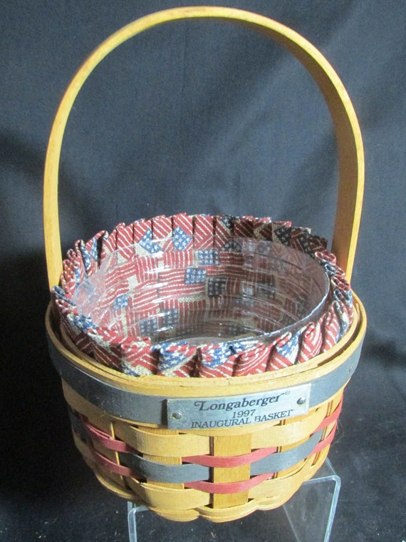 Longaberger Small Purse Basket Liner Old Glory