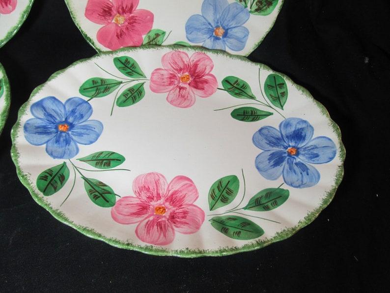 Blue Ridge Norma 9 luncheon plates /& 11.5 platter Southern Potteries Inc.