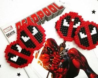 DEADPOOL Magnet Perlerbeads Marvel Pixelart 8-Bit