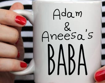 Gift for Father, Personalized Baba Mug, Gift from Children