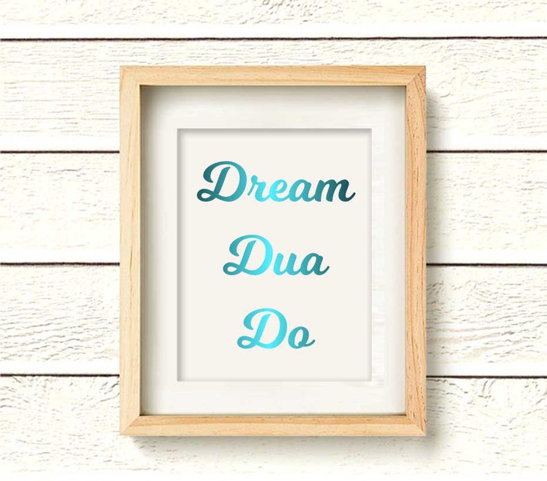 REAL FOIL Dream Dua Do, islamic home Decor, Muslim decor, muslim house  warming gift, Islamic Art