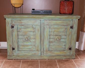 Farmhouse Rustic Buffet-TV Cabinet