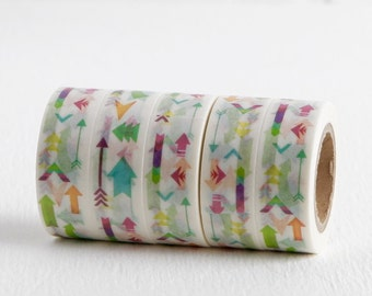 Pointing Arrow and Tulip Washi Tape, 15mm