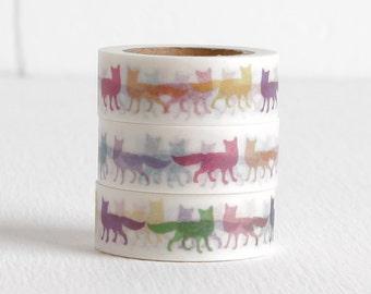 Pop Art Fox Washi Tape, 15mm