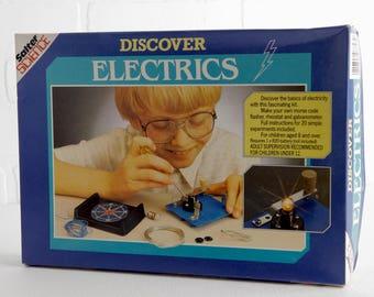 Vintage Salter Science Discover Electrics Kit, New in Box