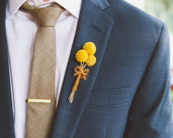 Rustic Billy Ball Boutonniere