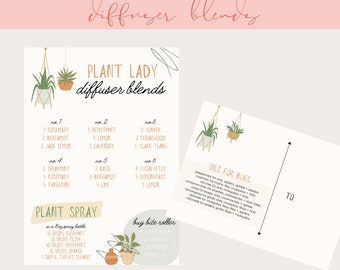 Plant Lady Diffuser Blends, Essential Oil Resource, Young Living Postcard