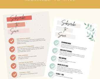 Subscribe to Save, Essential Oil Resource, Young Living Postcard, Brand Partner Resource