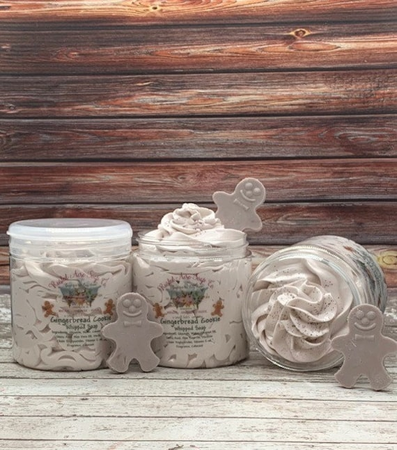 Gingerbread Cookie Whipped Soap Cream Soap  Whipped Shaving