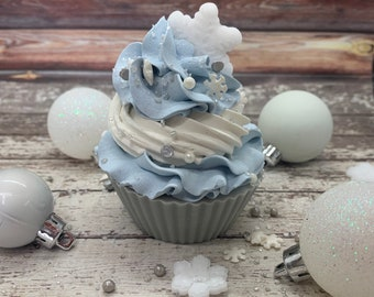 Snowflake Cupcake Soap | Cupcake Soap |Winter Soap | Christmas Soap | Gifts for Kids | Stocking Stuffer | Snowflake | Winter Vibes |