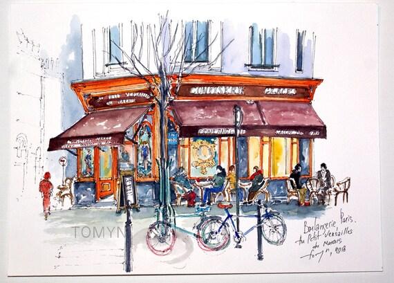 Boulangerie PARIS. Au Petit Versailles. PARISIAN Wall ART. | Etsy