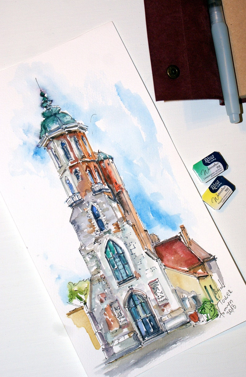 BUDAPEST Art Print New!! Art Print From Budapest. Mary Magdalene Tower BUDA  TOWER Hungary Wall Art Hungary Print