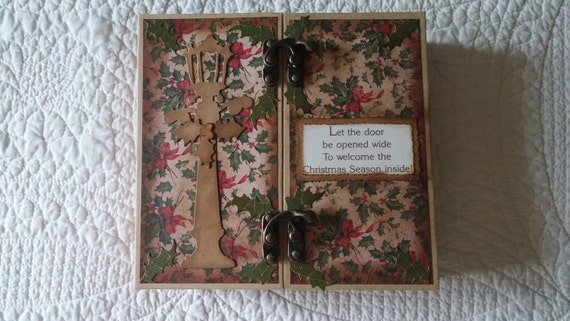 Gatefold Christmas Scrapbook Journal Album Handmade Etsy