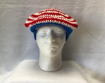 c5b86fa3 USA flag golf cap. AuntyShirlsCreations