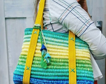 Crochet Bag Pattern ~ Instant Download ~ Ropey Tote