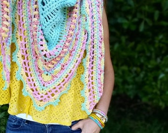 Crochet Shawl Pattern ~ Instant Download ~ Sunday Shawl 8dcb6346c