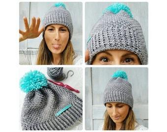 Crochet Pattern ~ Easy Peasy Hat ~ Instant Download