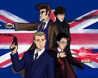British Heroes 11x17 Print