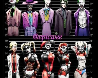 Joker and Harley Quinn: both Prints at a discounted price!
