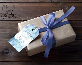 Peace Love Hope Gift Tags