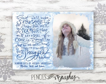 Christmas Photo Cards, Holiday Photo Card, Elf Quote