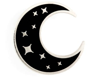 Space and Astronomy Pins Moon Moon Phases Gold Crescent Moon Lapel Pin- CC457G- Crescent