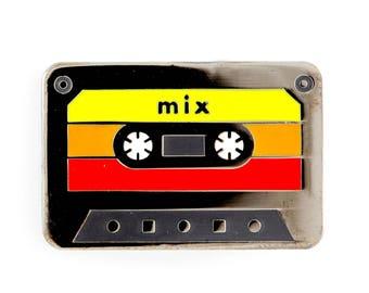 Mix Tape Cassette Enamel Pin