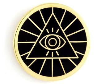 Illuminati Enamel Pin