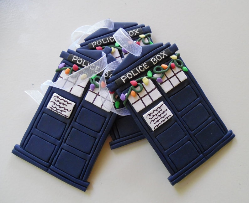 Dr. Who's TARDIS Christmas Ornament | Etsy
