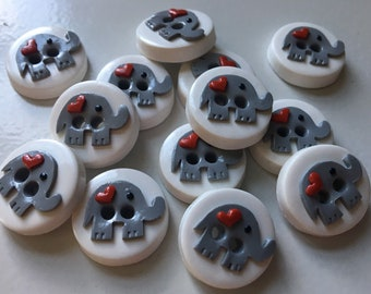 6 - Elephant Buttons (Any colors)