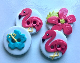 Flamingo buttons