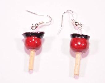 Cherry Candy Apple earrings