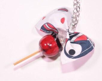 Cherry love Apple pendant