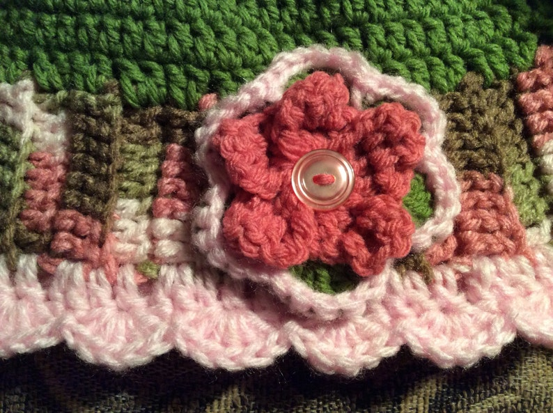 snow hat ski hat Lady/'s pink Camo hat fashion hat gift idea beanie hat hand crochet crochet flower hat Lady/'s Winter Hat