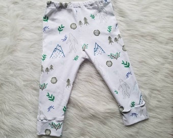 ec2400e6e Sasquatch leggings, big foot leggings, baby leggings, toddler leggings,  handmade leggings, sasquatch pants, sasquatch baby leggings