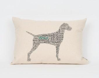 Vizsla Pillow 12x18 // Vizsla Art // Vizsla Mom // Dog Breed Pillow // Dog Mom // Dog Breed Art // Gift for Dog Lover // Pet Gift