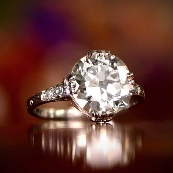 Old European Cut Diamond Vintage Ring Seven Stone Ring Woman/'s Art Deco Engagement Ring Antique Edwardian Ring Anniversary Gift Ring