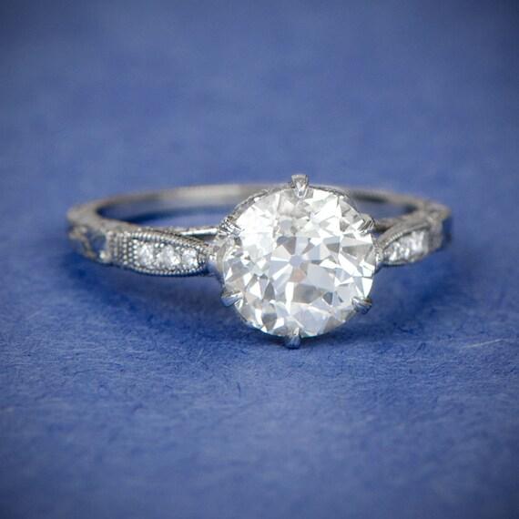 vintage style engagement ring antique diamond and. Black Bedroom Furniture Sets. Home Design Ideas