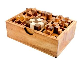 6 Games Wooden Puzzle Set
