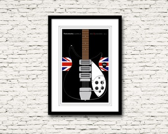 Guitars Signature Series Poster 5 Rickenbacker Model 325 The Beatles