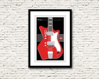 Guitars Signature Series Poster 1 Airline Res-O-Glass The White Stripes