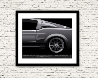 Drive Signature Series Poster 7 Ford Mustang Shelby GT500