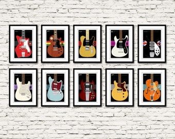Guitars Signature Series Posters All 10! Plus a complimentary exclusive 11th poster!