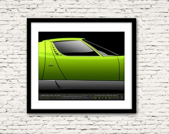 Drive Signature Series Poster 5 Lamborghini Miura